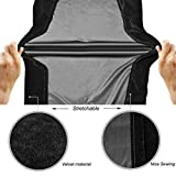 Electric Digital Piano Keyboard Cover Stretchable Velvet BALFER Dust Proof Keys Board Protective for Yamaha Williams Casio Roland (88 Keys)
