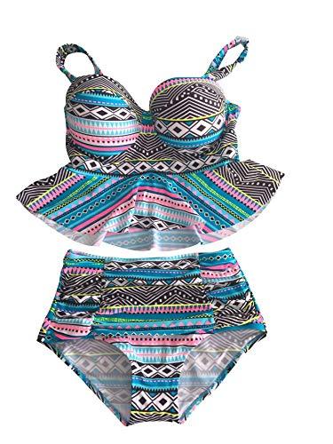 PinUp Angel Haicoo Plus Size High Waist Vintage Retro Bikini Women Push up Separate Swimwear