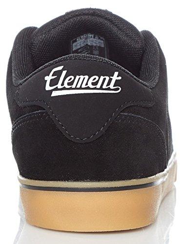 Patin Noir Chaussures Skate Chaussures De Gomme De Hommes Heatley Élément 8Tvrp8q
