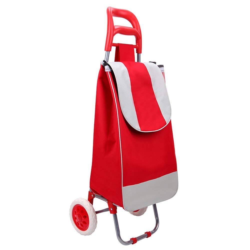 Zehaer Portable Trolley, ZGL Trolley Shopping Cart Collapsible Small Cart Convenient Pull Rod Car Household Trolley Small Trailer Hand Car