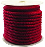 Rope King SBP-58140R Solid Braided Poly Rope - Red - 5/8 inch x 140 feet
