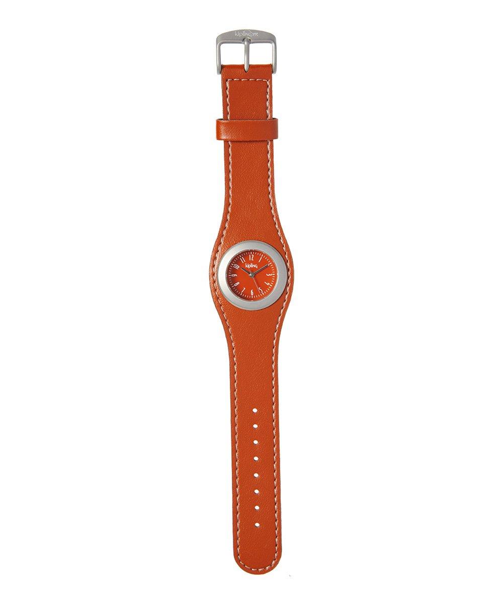Kipling Kids Brown Leather-Strap Quartz Watch