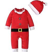 Keliela-Baby Shop Bebé Ropa Navidad Mono Niñas Niños Jumpsuit + Sombrero Manga Larga Body Pelele Recien Nacido Pijama…
