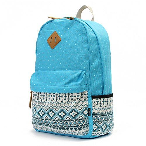 for 3PCS Girls 3PCS Light Navy Bags Set Backpack Schoolbag Lightweight Blue Blue OURBAG Women Wallet Casual Shoulder Canvas 4SFB8B