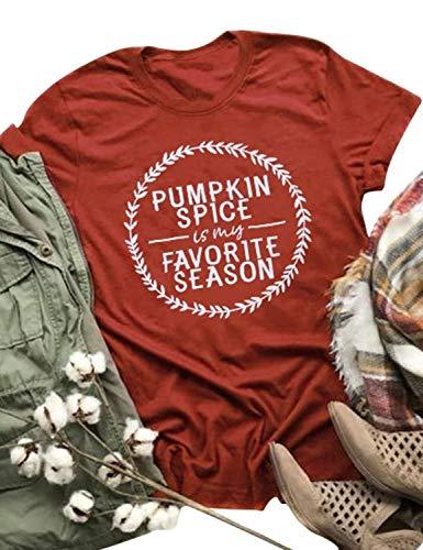 9b8af69b2b2 Nlife Women Pumpkin Spice is My Favorite Season T-Shirt Halloween T-Shirt  Tops