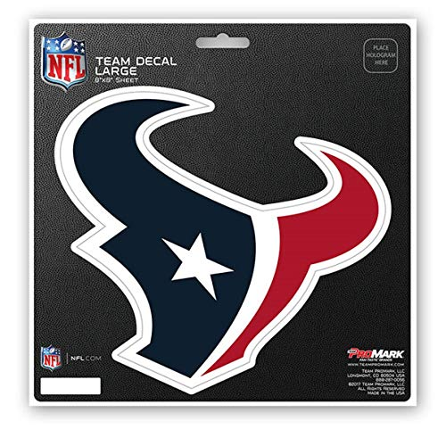 ProMark NFL Houston Texans Unisex Houston Texans Decal Die Cuthouston Texans Decal Die Cut, Team Color, 8x8