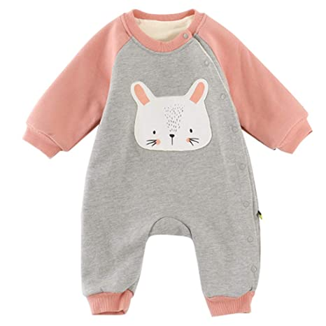 Bebé Mameluco Invierno Mono Caliente Peleles Terciopelo Body Linda Pijamas Unisex