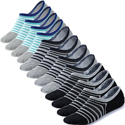No Show Socks Women Ankle Low Cut Socks Invisible Non Slip Footies Liner for Sneakers Boat Shoes 6 Pairs (No Show Socks That Don T Slip)