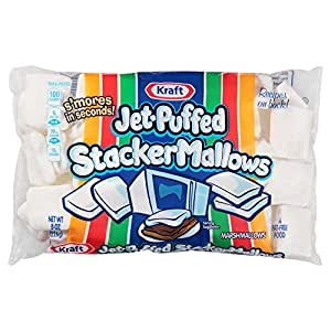 Jet-Puffed Stacker Marshmallows For S'Mores, 8 Ounce Bag (Pack of 8)
