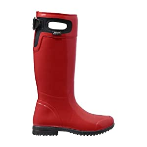 Bogs Women's Tacoma Tall Rain Boot,Red,6 M US