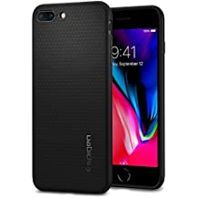 Spigen Liquid Air Armor iPhone 8 Plus Case / iPhone 7 Plus Case with Durable Flex and Easy Grip Design for Apple iPhone 8 Plus 2017 / iPhone 7 Plus 2016 - Black