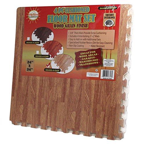 Home Essentials Wood Grain Utility Floor Set Interlocking...