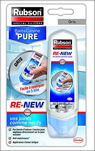 Rubson Re New Mastic Sanitaire Blanc à Base De Silicone S Applique Sur Le Joint Déjà Existant Mastic étanche Anti Moisissures 1 X 100 Ml