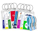 Cruise Luggage Tags Tags For Traveling - Durable PVC e-Tag Holders - Bounce Beach Towel Clips (Clear 8pack)