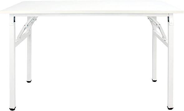 sogesfurniture Mesa Escritorio Plegable, 100x60 cm Mesa de ...