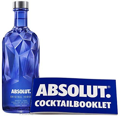 Absolut Vodka Facet 0,7 Liter- Limited Edition incl. Cocktailbocklet PiHaMi®Gastro