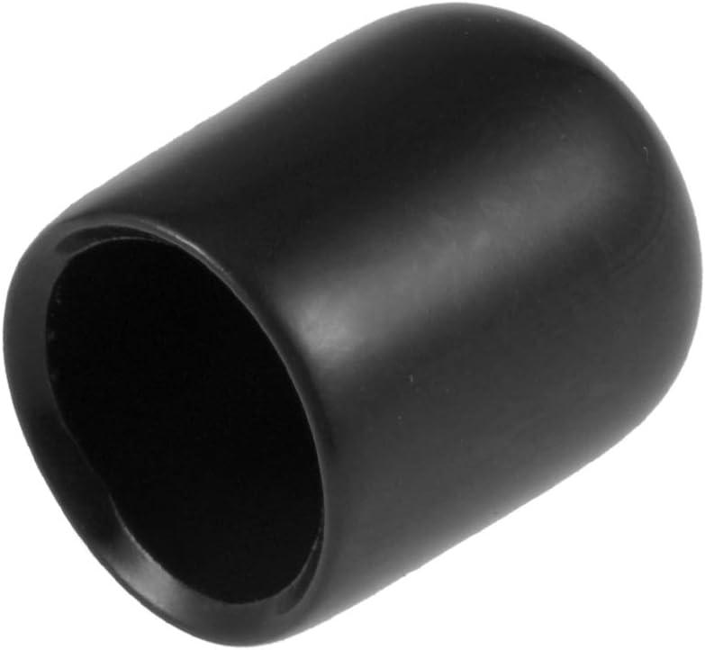 ID Vinyl Round End Cap Cover Screw Thread Protectors Black uxcell 80pcs Rubber End Caps 3//8 9.5mm