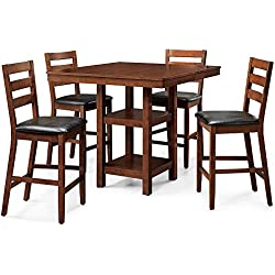 New - Dalton Park 5-Piece Counter Height Dining Set, Mocha