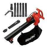Snow Joe Sun Joe SBJ606E-GA-RED-RM 14 Amp Electric 4-In-1 Blower/Vacuum/Mulcher/Gutter Cleaner, Red (Certified Refurbished)