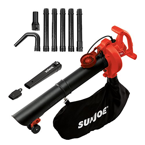 Snow Joe Sun Joe SBJ606E-GA-RED-RM 14 Amp Electric 4-In-1 Blower/Vacuum/Mulcher/Gutter Cleaner, Red (Certified Refurbished) Review