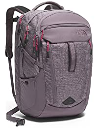 The North Face Surge Backpack - Women's - rabbit grey heather/cerise pink, one size