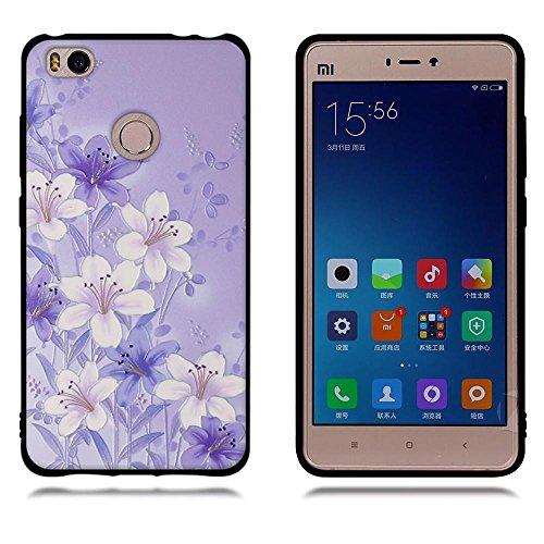 Funda Xiaomi Mi 4s, FUBAODA [Flor rosa] caja del teléfono elegancia contemporánea que la manera 3D de diseño creativo de cuerpo completo protector Diseño Mate TPU cubierta del caucho de silicona suave pic: 06