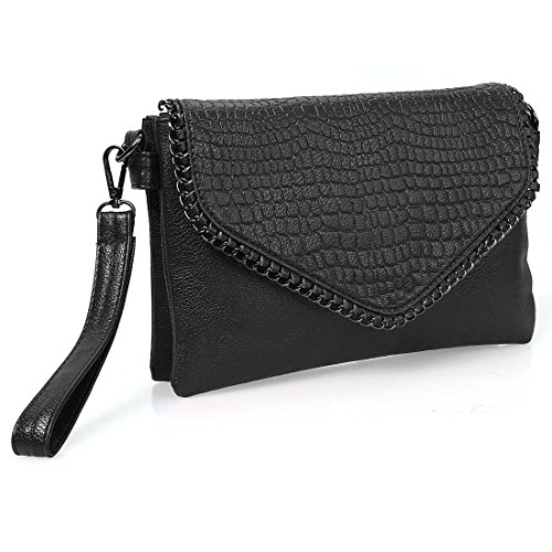 Womens Textured Leather Compartment Handbag product image