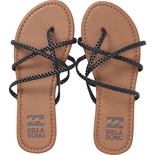 51EQ%2BQjHKhL Billabong Women's Crossing It Slide Sandal, Off Black, 6 M US