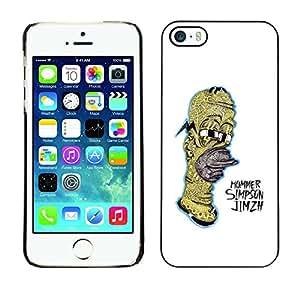 SoulCase / Apple Iphone 5 / 5S / Psychedelic Cartoon Family Hommer / Delgado Negro Plástico caso cubierta Shell Armor Funda Case Cover