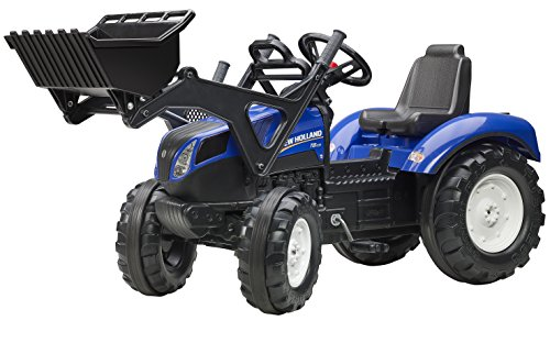 Falk New Holland T8 Pedal Tractor w/Front Loader & Rubber Tire Bands (3 to7years) - FA3092D