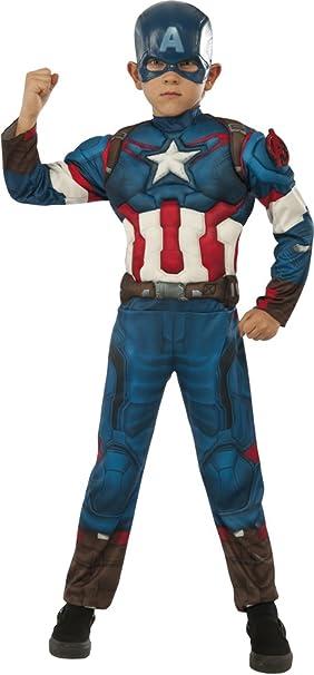 Avengers - Disfraz de Capitán America Deluxe, para niños, talla L ...