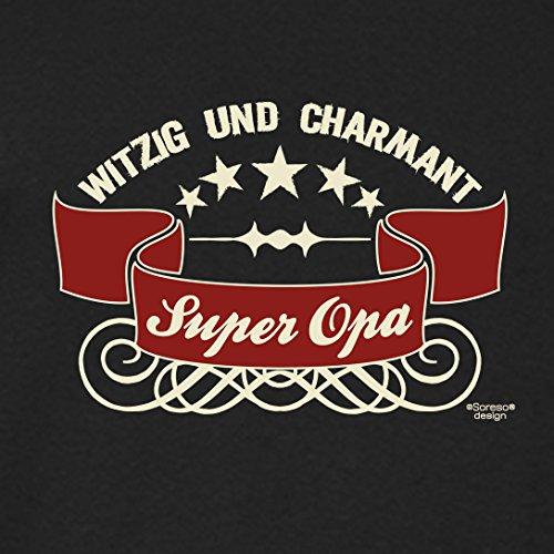 Großvater Fun-T-shirt als Top Geschenk mit GRATIS Urkunde - Super Opa Farbe: schwarz Gr: XL