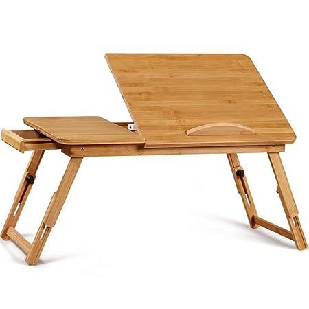 Mesa de Cama de Madera de bambú Natural Soporte para Escritorio ...