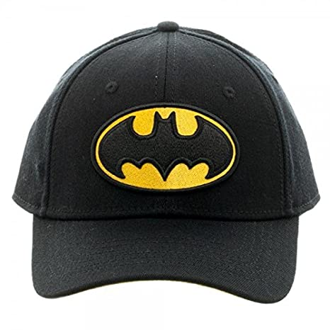 51a228cb3 Image Unavailable. Image not available for. Color: DC Comics Batman  Embroidered Logo Flex Cap