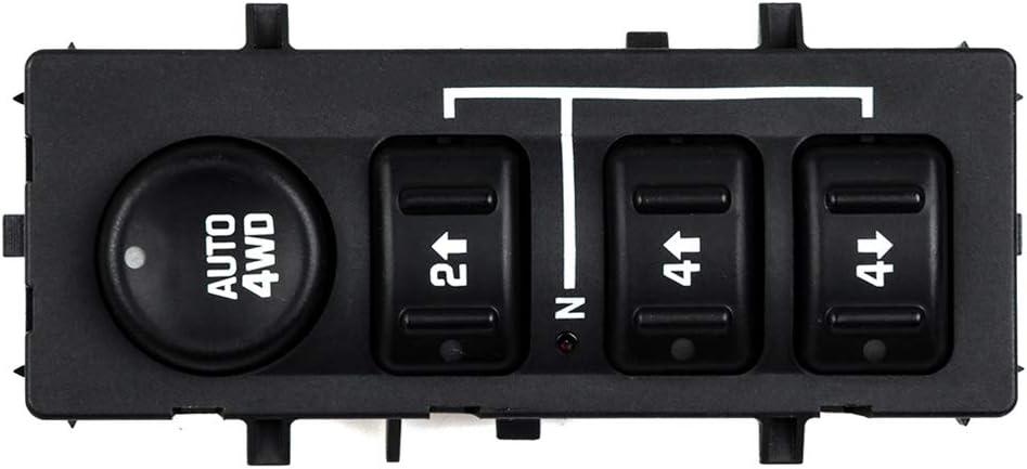 4WD Wheel Drive Switch 4x4 Transfer Case Button Compatible for 2003-2007 GM TRUCK2003-2006 CHEVROLET AVALANCHE2003-2006 CHEVROLET SUBURBAN2003-2006 CHEVROLET TA