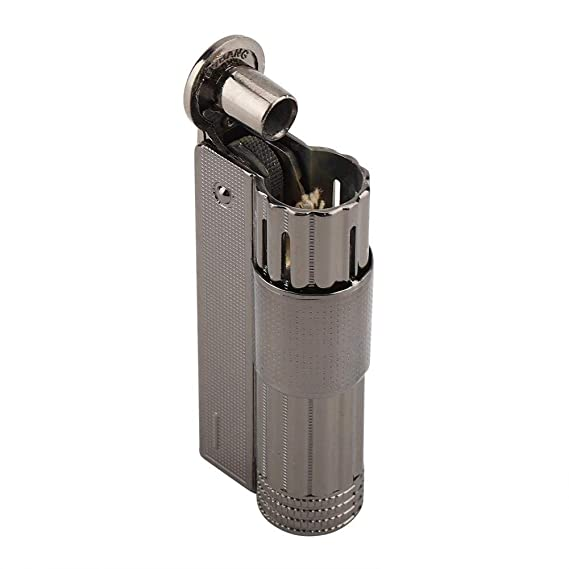Encendedor de Cigarrillos de Aceite de Gasolina de La Vendimia Encendedor de Gasolina de Acero Inoxidable Viejo para Hombres Accesorios de La Máquina de ...