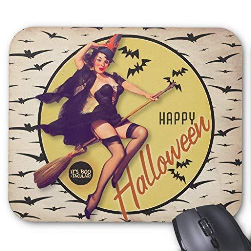 BGLKCS The Kitsch Bitsch : Boo-tacular Retro Halloween Mouse Pad]()