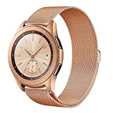 Lovewe Samsung Watch Band,Luxury Milanese Magnetic Loop,Stainless Steel Metal Bracelet,Wristband Strap For Samsung Galaxy Watch(42mm/46mm) (Rose Gold, 42mm)