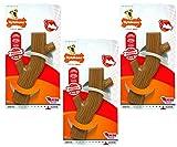 (3 Pack) Nylabone Dura Chew Hollow Sticks, Bacon Flavor - Size Souper/ X-Large