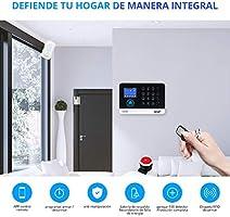 KERUI WG11 WiFi/GPRS/gsm Sistema de Alarma para Casa Control Remoto por SMS/Call/App, Kit de Alarma Antirrobo Inalámbrica con Tarjeta RFID, Detector ...