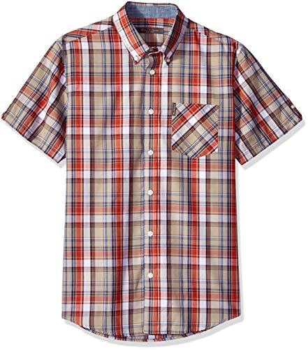 - Ben Sherman Men's Madras Plaid Shirt, Burnt Orange, XXL Large