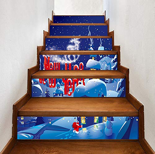 Christmas Decorating Stairs, New Year's Eve, Steps, Wall Stickers ()