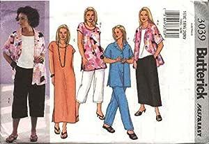 20W Uncut Butterick Pattern 3095 Women//Petite Top Skirt Close Fitting Size 16W