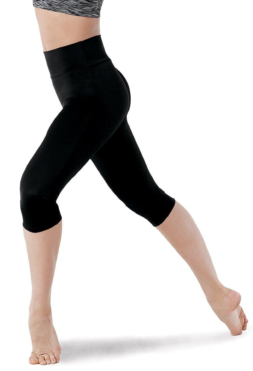 Balera Dance Capri Leggings Matte Nylon High Waist Navy Adult Medium by Balera