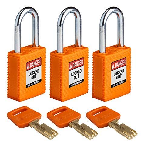 Brady SafeKey Lockout Padlock - Nylon - Orange - 1.5