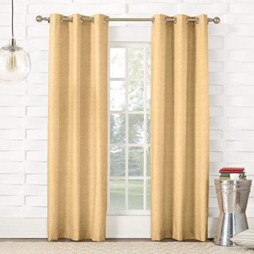 - Sun Zero Randall Thermal Insulated Energy Efficient Grommet Curtain Panel, 40
