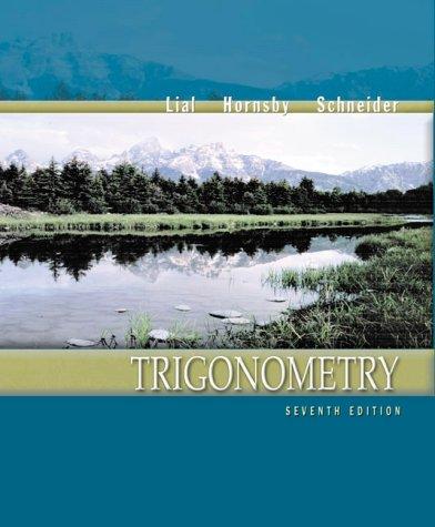 Trigonometry (7th Edition)