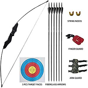 Kids Archery Set Recurve Bow and Arrows Kit for Junior Age 10+