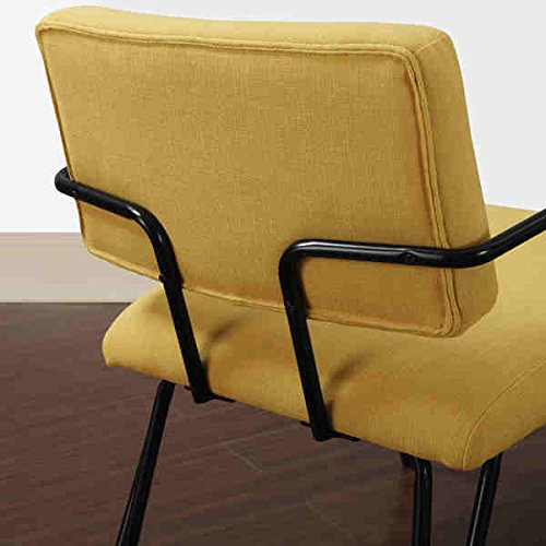 amazoncom yellow upholstery accent chair this midcentury modern chair features a retro yellow colored fabric upholstery on seat and back that is sure to