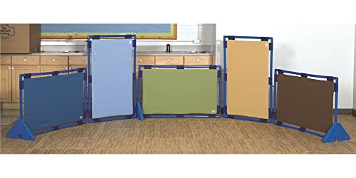 Children s Factory Rect. Woodland PlayPanel Set – 5, Room Divider Panels, Free-Standing Classroom Partition Screens for Daycare Homeschool Montessori